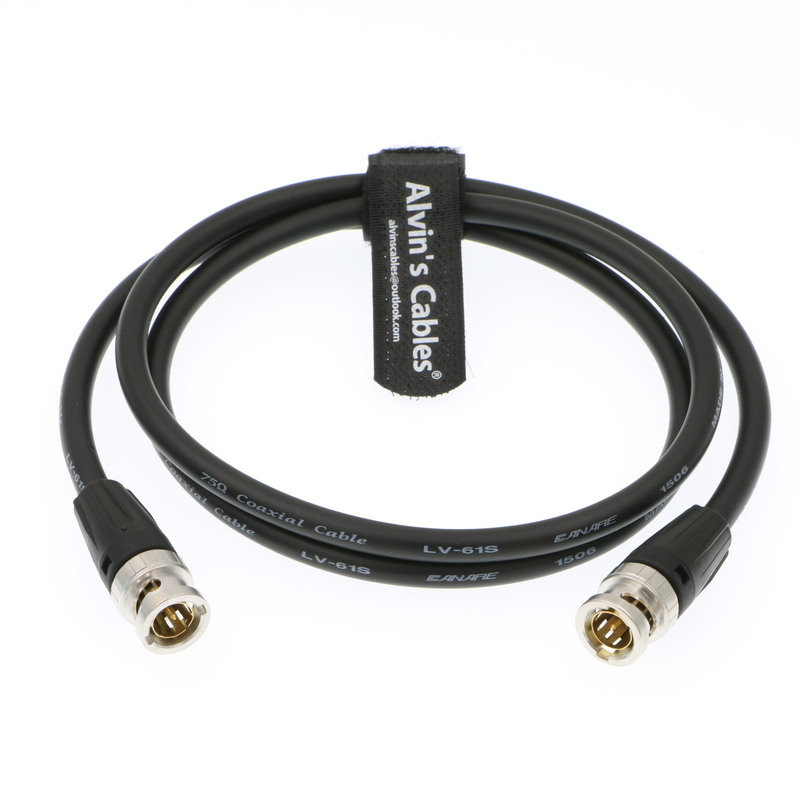Alvin's Cables 12G HD SDI Video Coaxial Cable Neutrik BNC Male to Male for 4K Video Camera 1M